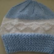 Boys Blue and White Hat - via @Craftsy