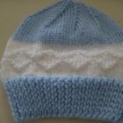 Boys Blue and White Hat - via @Craftsy