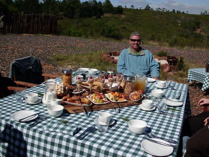 Bush breakfast at the fabulous Gondwana Reserve South Africa