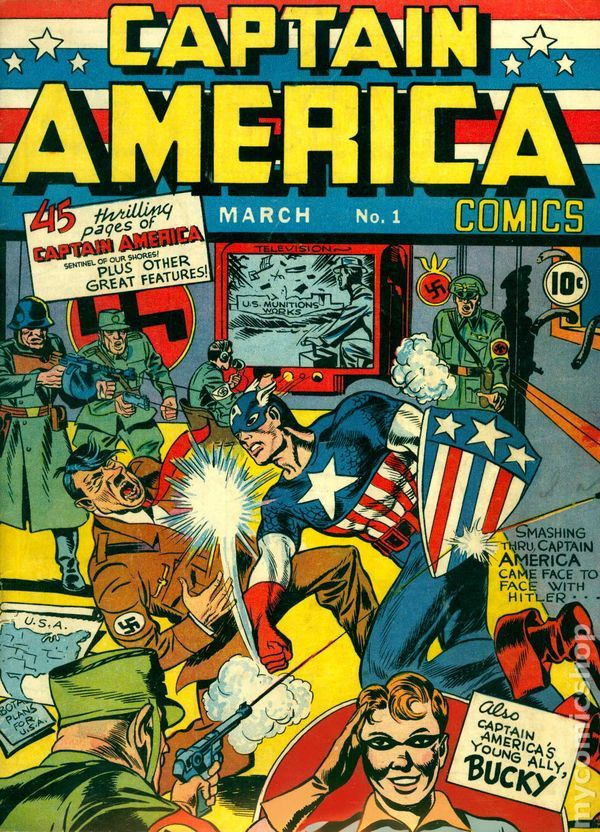 Sexy Golden Age Comic Cover | Captain America Comics (1941 Golden Age) comic books