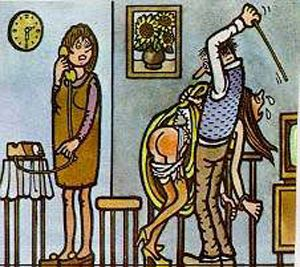neprakta father/daughter spanking cartoon czech Dikobraz