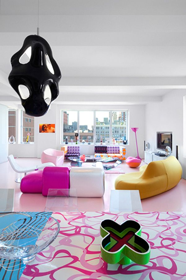 ish and chi: The vibrant home of Karim Rashid- interior design, decorating and style ideas