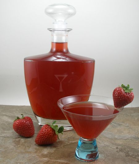 Homemade Strawberry Liqueur - Note: The recipe calls for 2 pounds of diced strawberries, so I suggest you buy 3 lbs of strawberries because you are going to cut the stems off and because sometimes there are some bad strawberries in the package.