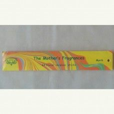Myrrh – 24 Floral Incense sticks.  A very remarkable scent. Active, happy and adventurous. A mild, but unique fragrance which you will never forget.  The Mother's Fragrances: The Mother's Fragrance creates employment opportunities for women in the local area. Hand crafted in India since 1975. Packed for Peace:  Portions of the proceeds from sale of our products are donated to international efforts to promote World peace and the economic development of the poor. $3.80au