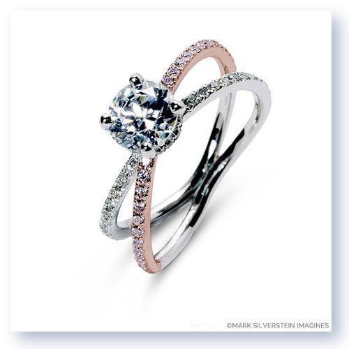 The white and rose gold Balos engagement ring from Mark Silverstein Imagines http://shop.msimagines.com/product-p/2116-18KWR-WPD.htm