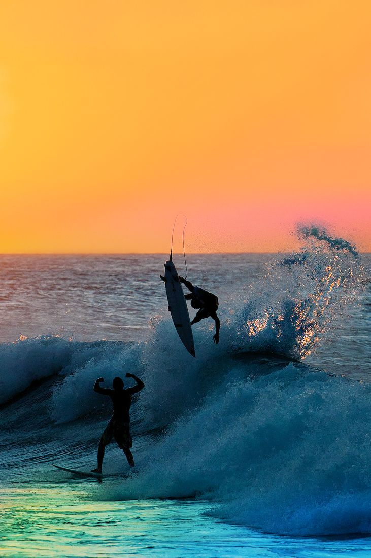 AARON AND BRIAN ARE THE DINAMO DUO!. THEY ARE POLISHED INTELLIGENCE COVERED UP WITH CRAZY SENSE OF HUMOR AND SPUNK!. Sunset surf...