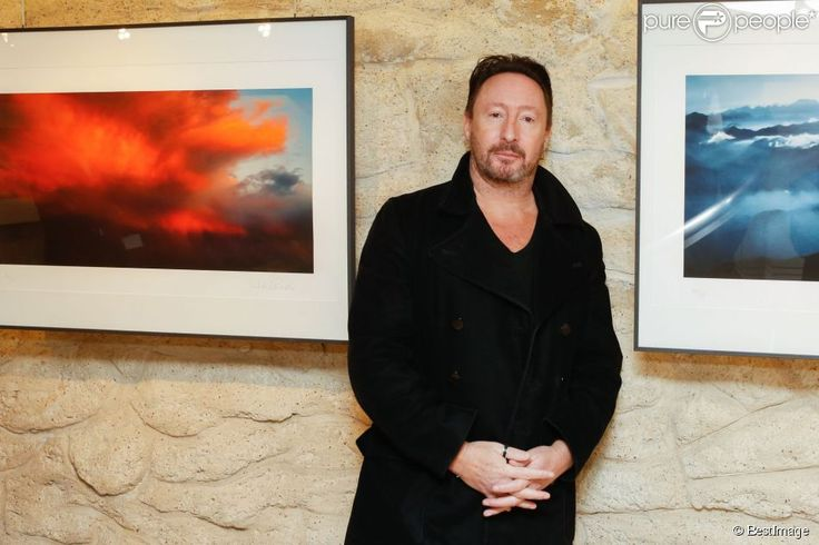 """The photographer Julian Lennon at the opening of his exhibition """"Charlene Wittstock"""" at the Art Cube Gallery in Paris on 4 December 2014"""