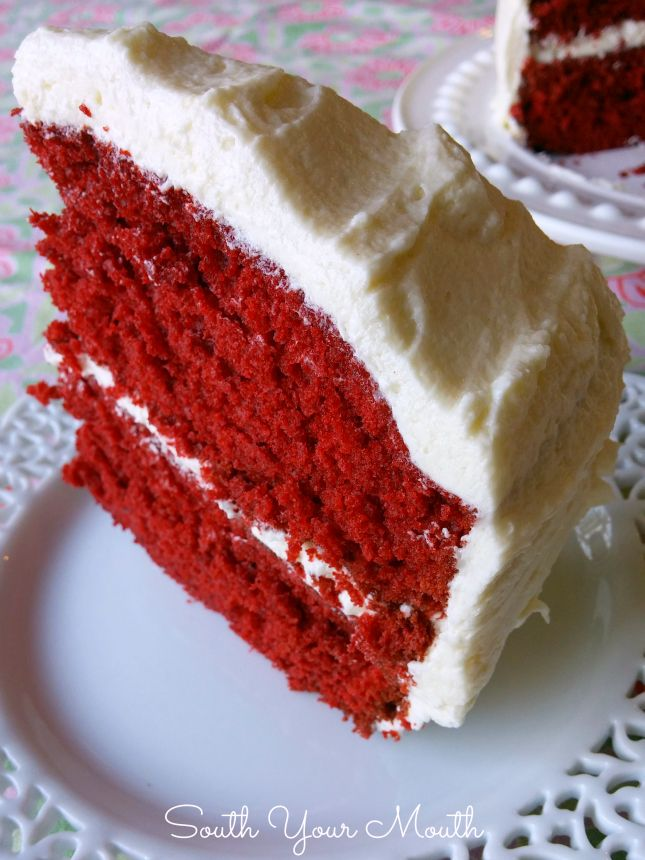 Mamas Red Velvet Cake Recipe Red velvet Frosting and Southern
