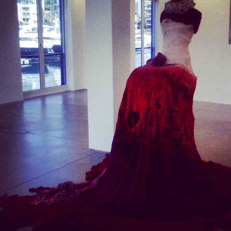 Greate piece of art by Marianne Fassler, displayed at the MOCAA galary. Is accompanied by a haunting video. #sculpture