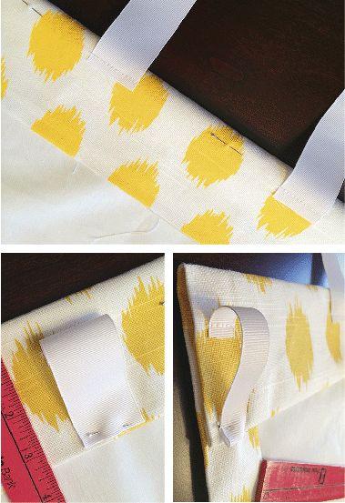 como hacer cortinas para barral con presillas de cintas