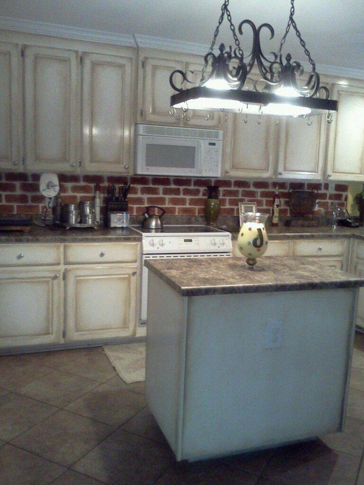Faux Painting Kitchen Backsplash