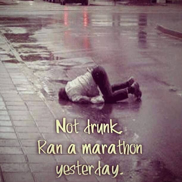 Everything hurts so good! this has been me after every marathon