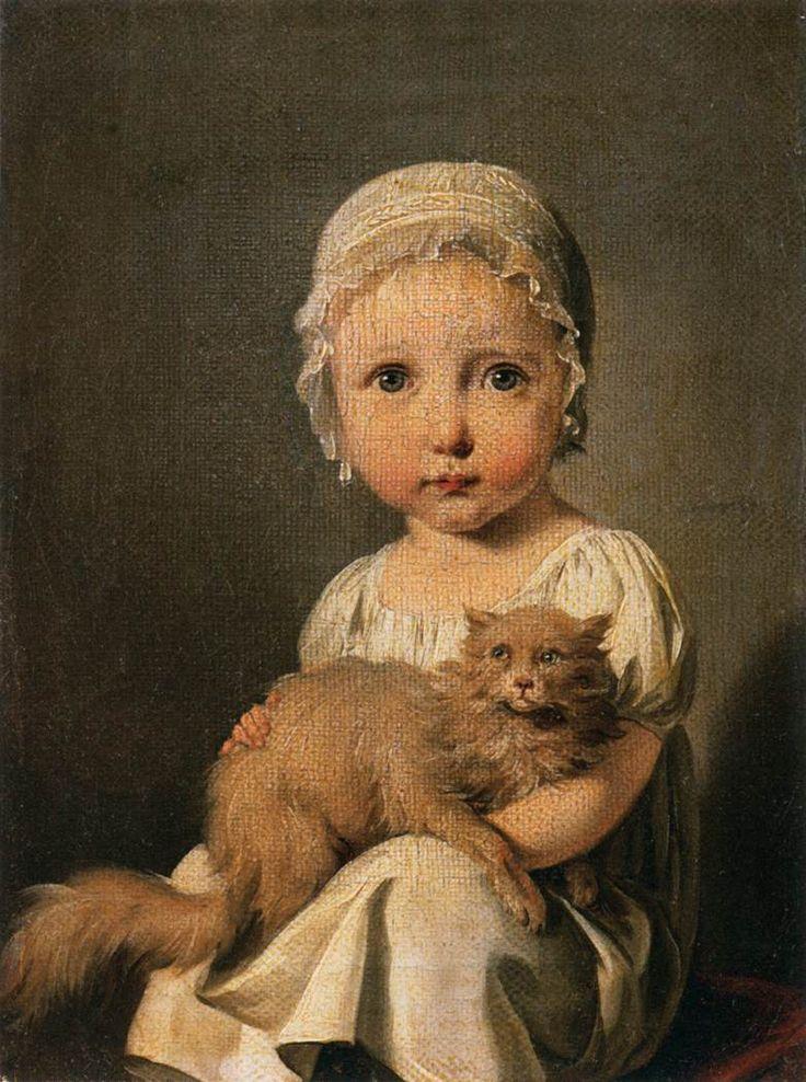 Louis Léopold Boilly - Gabrielle Arnault comme un enfant (1815)