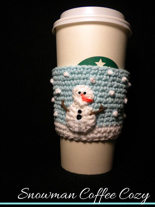 Snowman Coffee Cozy Pattern