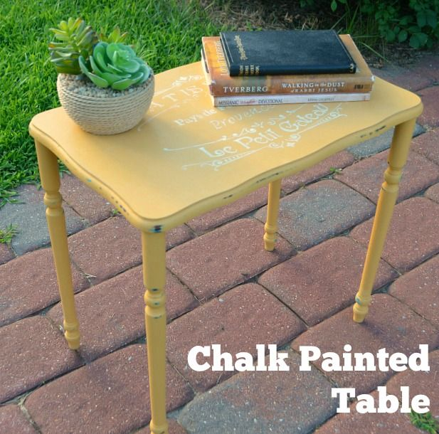 Best 25 yellow chalk paint ideas on pinterest yellow for Yellow painted table