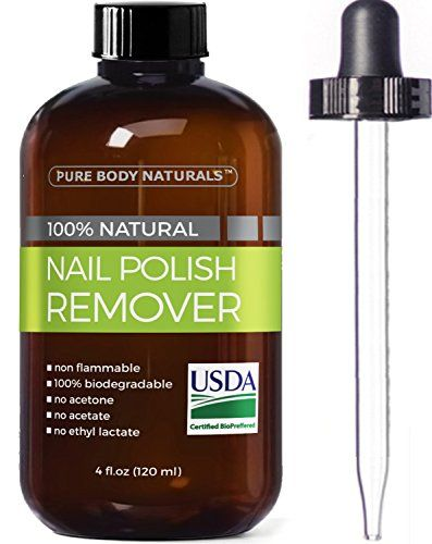 Pure Body Naturals Nail Polish Remover, 4 oz