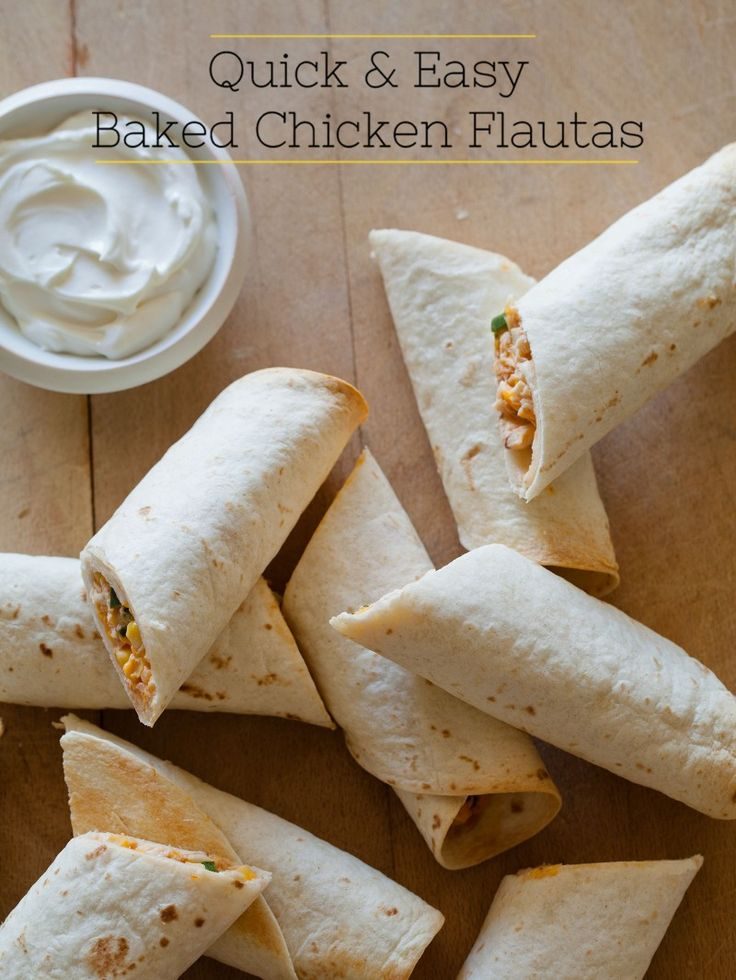 Quick & Easy Baked Chicken Flautas | Recipe | Easy Baked Chicken ...
