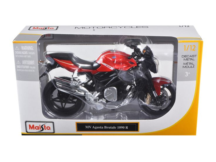 diecastmodelswholesale - 2012 MV Agusta Brutale 1090 R Red 1/12 Motorcycle by Maisto, $10.49 (http://www.diecastmodelswholesale.com/2012-mv-agusta-brutale-1090-r-red-1-12-motorcycle-by-maisto/)