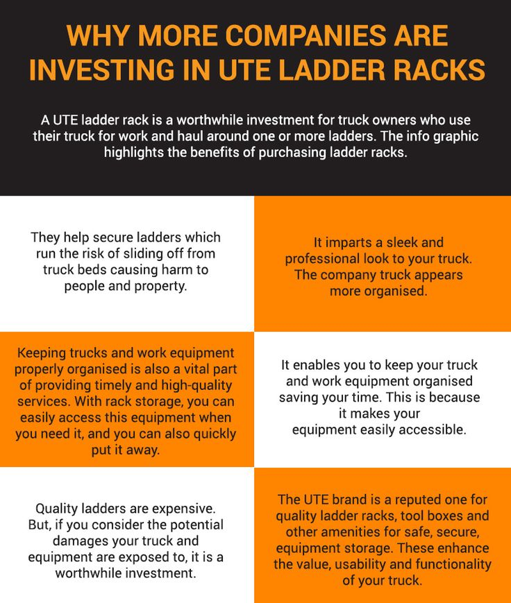 Ute ladder racks are hold numerous advantages for truck owners who need to haul around one or more ladders. Hence, investing in them is beneficial.