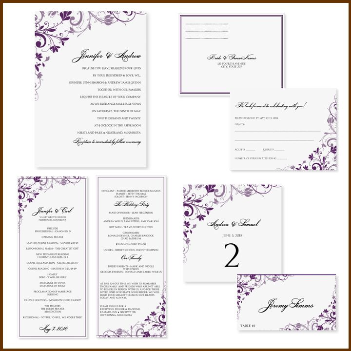 Purple wedding invitation template kardasklmphotography purple wedding invitation template stopboris Image collections
