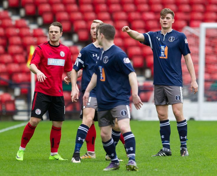 Queen's Park's Cammy Foy organising in his first start for the first team during the Ladbrokes League One game between Queen's Park and Brechin City.