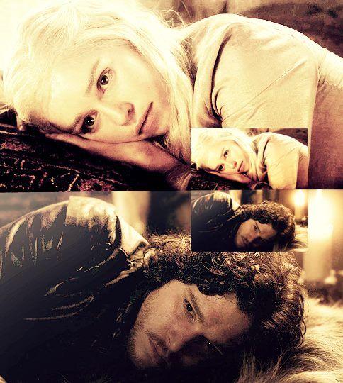 Daenerys Targaryen and Jon Snow #GameOfTrones #DaenerysTargaryen #JonSnow