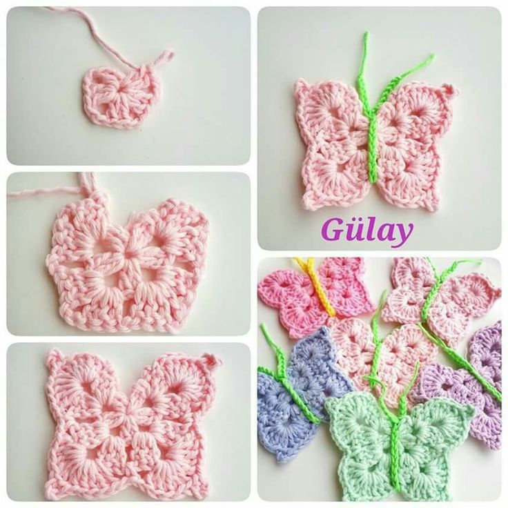 88 besten Crochet Butterfies Bilder auf Pinterest   Häkeln ...