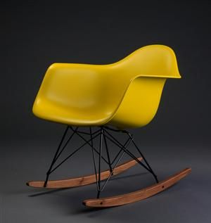 Lauritz.com - Modern furniture - tables and chairs - Charles Eames 1907- 1978. Gyngestol Rocker RAR - DK, Roskilde, Store Hedevej ($200-500) - Svpply