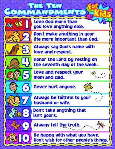 The Ten Commandments for Kids Chart by Linda Standke,http://www.amazon.com/dp/0887242782/ref=cm_sw_r_pi_dp_JU6Ksb1EPMNG4A2T