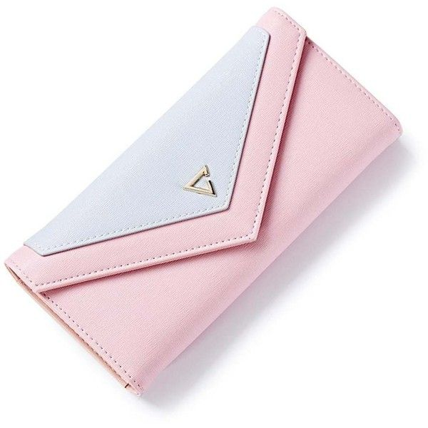 Pink Envelope Clutch Wallet Women PU Leather Hasp Fashion Money Bags... (38 BRL) ❤ liked on Polyvore featuring bags, wallets, coin pouch, envelope clutch bag, coin pouch wallet, pu leather bag and pink bag