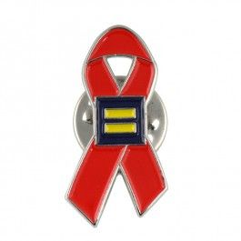 HRC AIDS Ribbon Lapel Pin