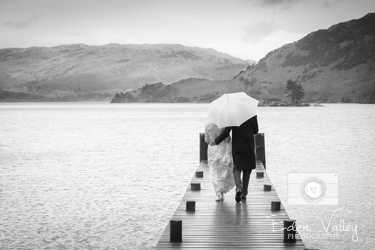 Bride and groom, Cumbria wedding photography, Lake District wedding photographer, Inn on the Lake, wet wedding, Eden Valley Photography