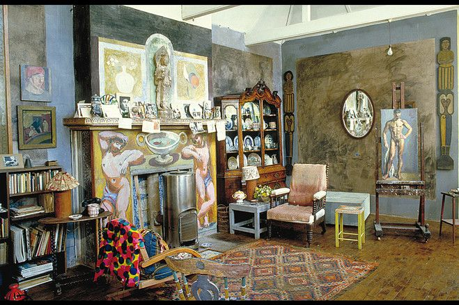 """Charleston,"" the bohemian home of Bloomsbury artists Vanessa Bell and Duncan Grant."