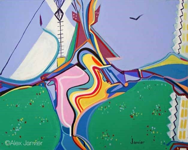 Alex Janvier Work on canvas