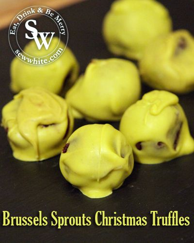 Brussels Sprouts Christmas Truffles | Sew White