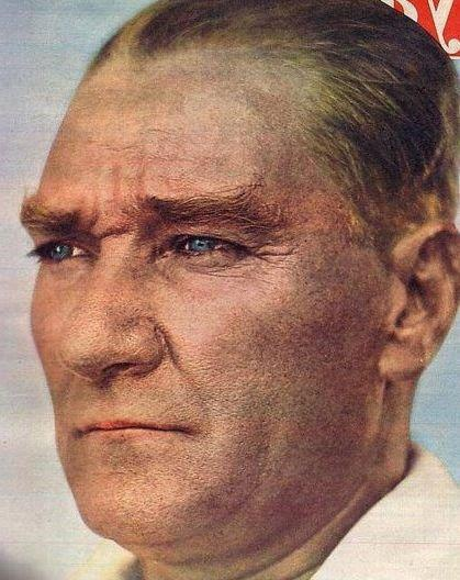 Mustafa Kemal Ataturk. People here say my little brother has his eyes :)
