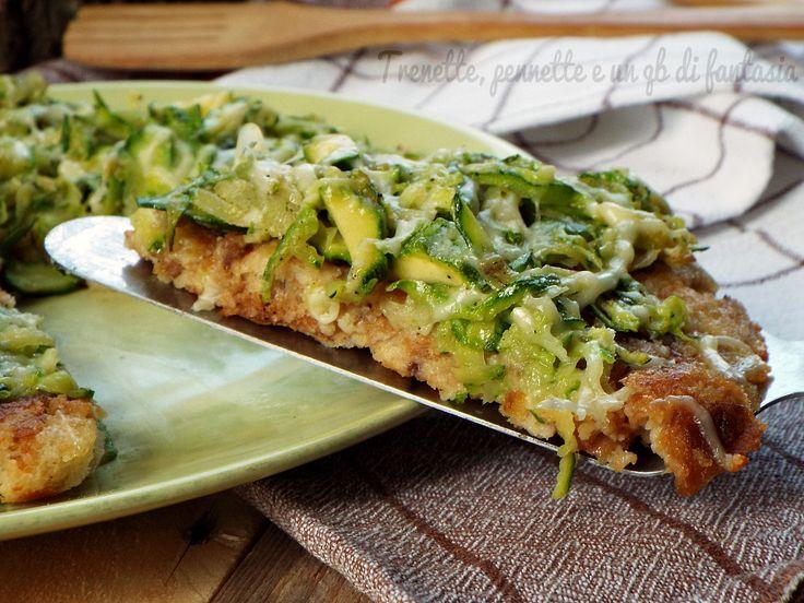 Pizza+di+pane+cotta+in+padella+con+zucchine