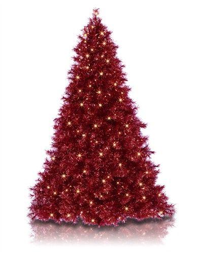 Ruby Red Tinsel Christmas Tree | Treetopia #TreetopiaHolidays