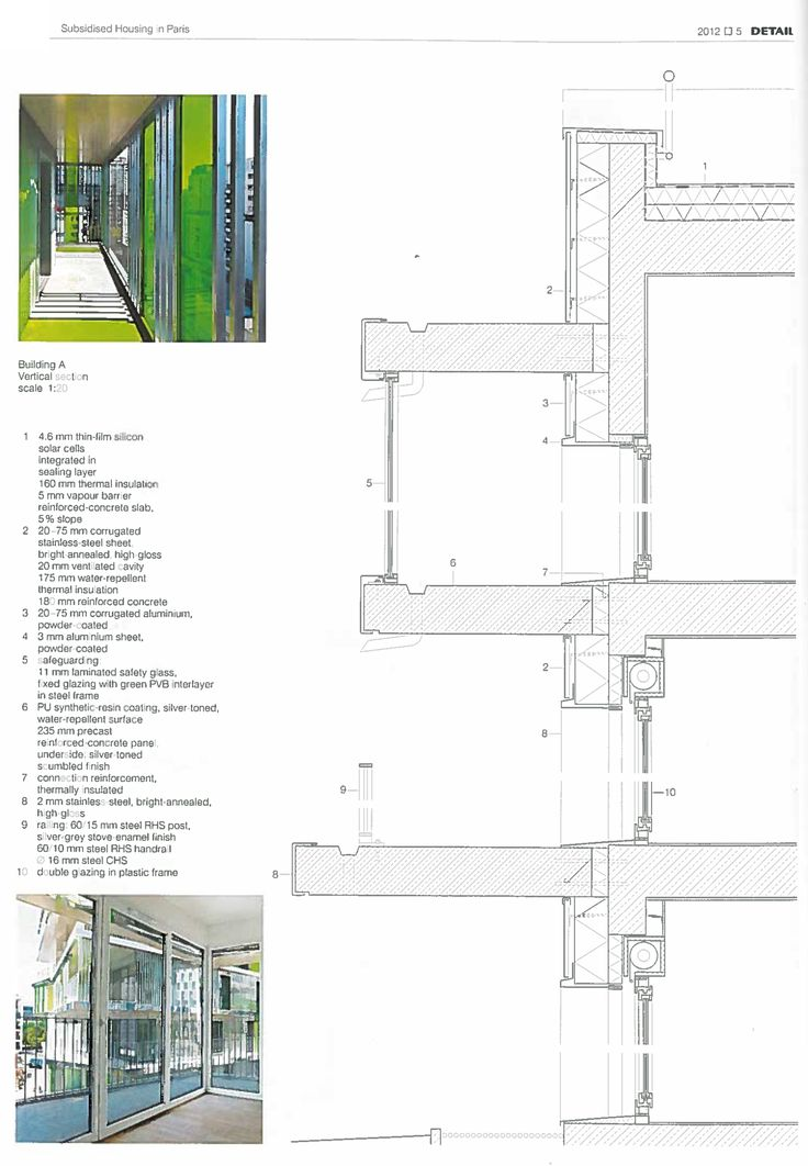 Detail Magazine Facades : Best images about wall section on pinterest high