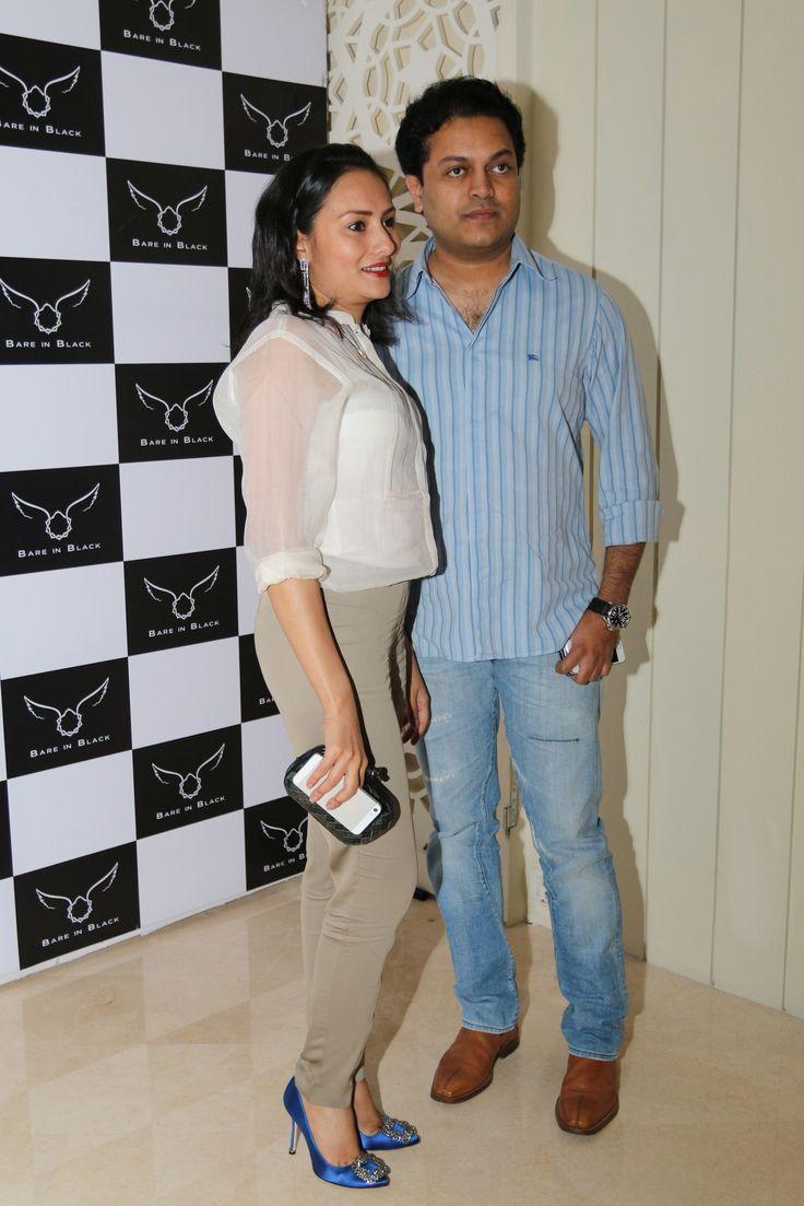 Amit Deshmukh & wife at Bare in Black Launch