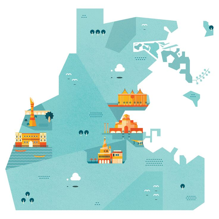 City Maps on Behance