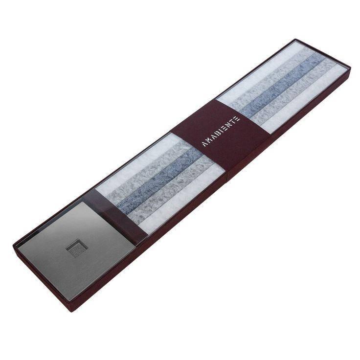 amabiente Geschenkbox - stein silber grau Wachskerzen + Ständer