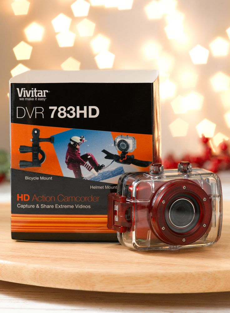 Red Vivitar Action Camera. Was £45, now £22.50. #FathersDay #FathersDayGifts #FathersDayGiftIdeas #MensFashion