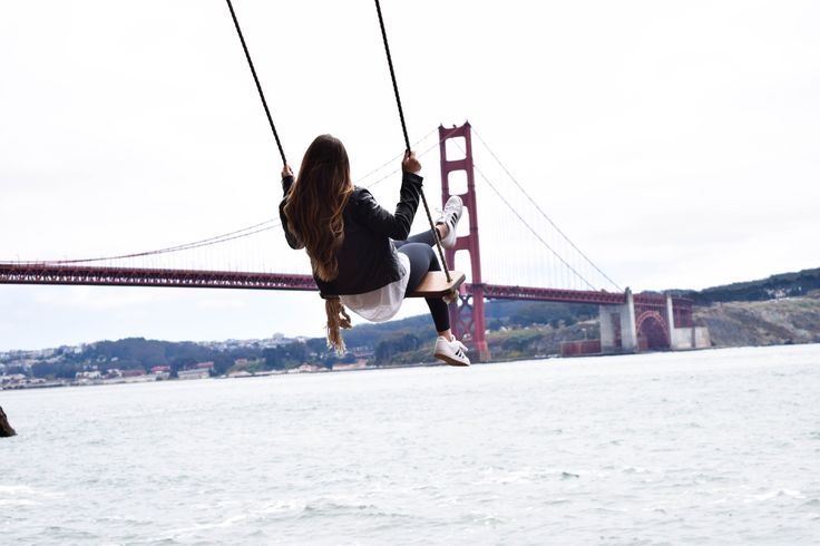 Swing in Sausalito, CA that over looks the Golden Gate Bridge