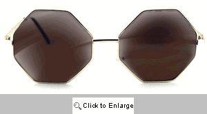 Autumn Octagon Sunglasses - 498 Gold