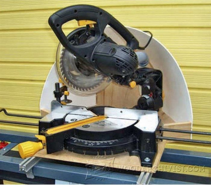 Miter Saw Dust Hood - Miter Saw Tips, Jigs and Fixtures - Woodwork, Woodworking, Woodworking Tips, Woodworking Techniques