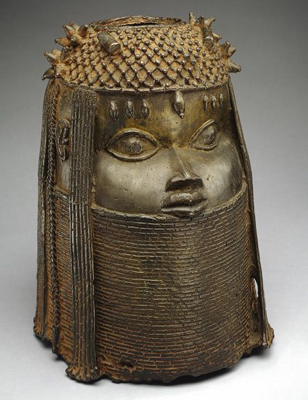 Head of an Oba (King) [Nigeria; Edo peoples, court of Benin] (1991.17.2) | Heilbrunn Timeline of Art History | The Metropolitan Museum of Art