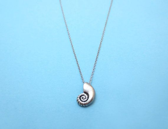 Ariel Voice Silver Plated Seashell Antique Necklace by Solistar