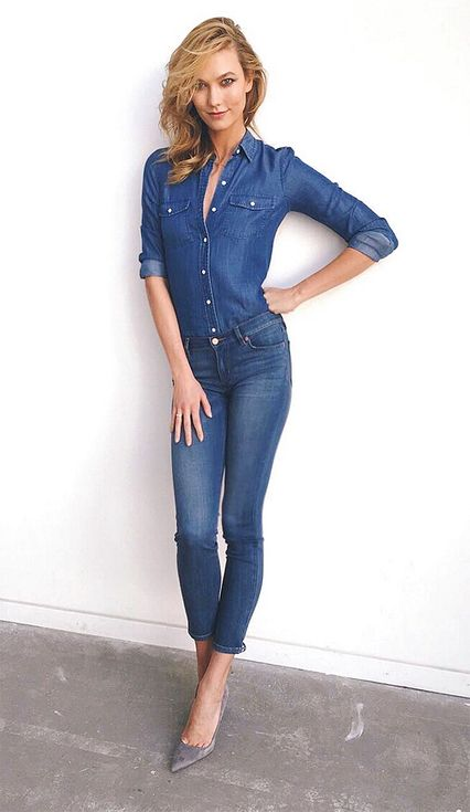 A Guide to Memorial Day Weekend Dressing, Brought to You by Karlie Kloss   People - Denim on denim