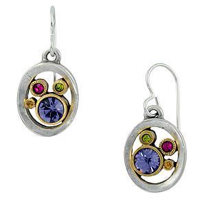 Water Ride Earrings in Silver Crystal by Patricia Locke Jewelry